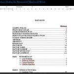 Cara Membuat Daftar Isi Manual di Microsoft Word